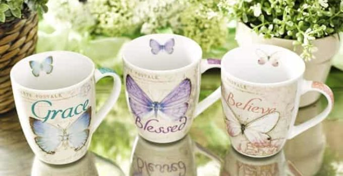 Amazing grace butterfly ceramic mug