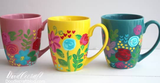 How to paint ceramic mug