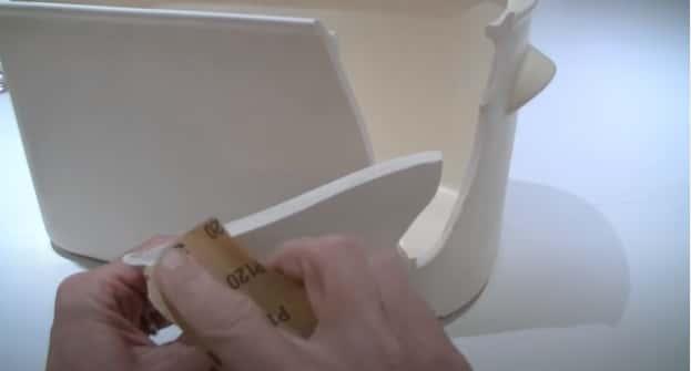 Use sandpaper before glue