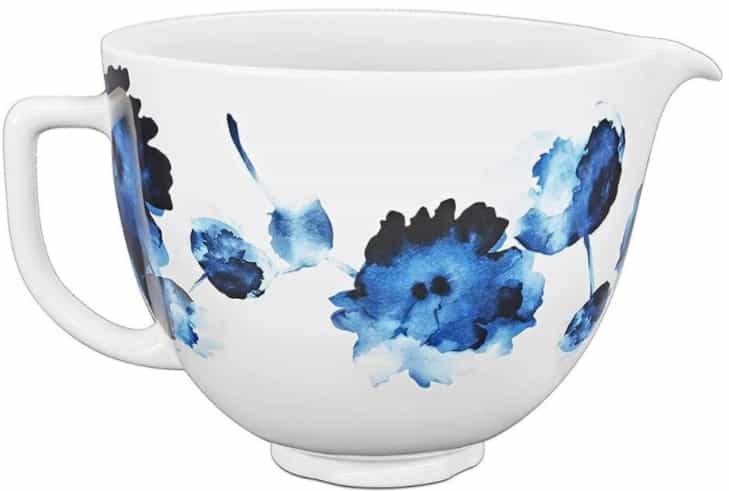 kitchenaid® artisan® stand mixer with 5qt ceramic hobnail bowl