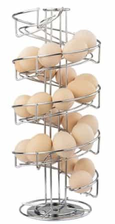 Best stainless steel: Toplife Spiral Design egg holder: