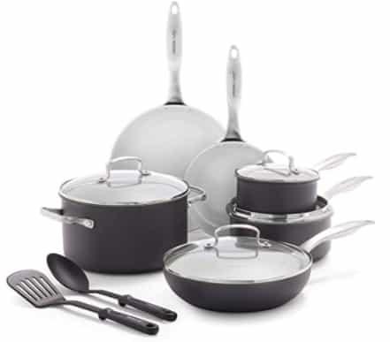 Greenlife Classic Pro Healthy Ceramic Nonstick, Cookware Pots