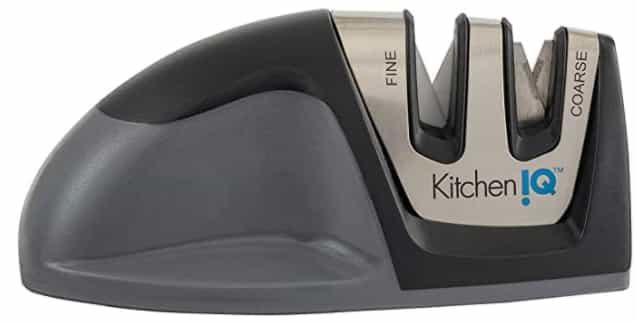 Best black KitchenIQ 50009 Edge Grip 2-Stage Knife Sharpener
