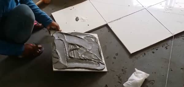 Replacing popped up ceramic tile