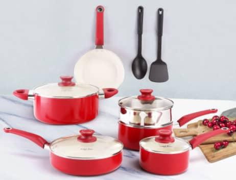 Best 12 piece COOKSMARK Ceramic Nonstick Cookware Set