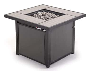Best square fire table Grand patio Outdoor 32 Inch Propane Gas Fire Pit Table